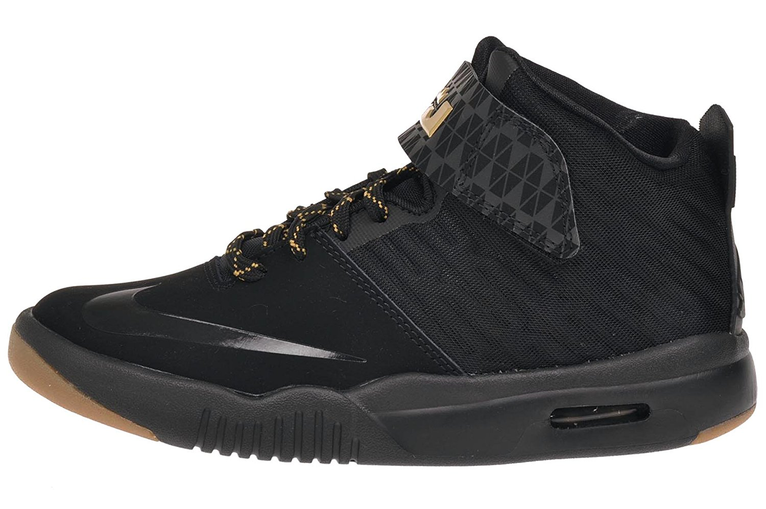 new styles 15fc0 17062 Get Quotations · Nike Kid s Air Akronite GS, BLACK METALLIC GOLD