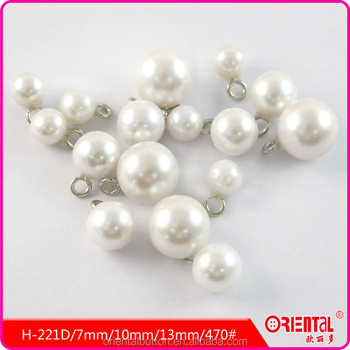 ball shape metal shank pearl button with Oeko-tex Certification