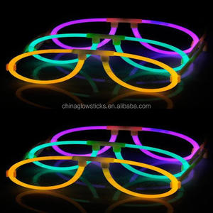 high quality low price funny glasses promotion decorative lighting glasses playful colorful glow sticks