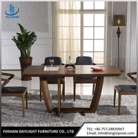 Famous designer European style home furniture wooden dining table set