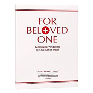 For Beloved One Melasleep Whitening Bio-Cellulose Mask 3pcs 1box Skincare #4321