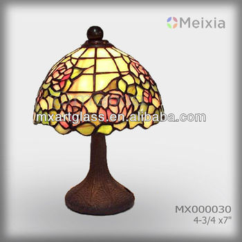 Mx000030 wholesale stained glass table lamp shade pink rose mx000030 wholesale stained glass table lamp shade pink rose tiffany lamp vitral table lamp aloadofball Image collections