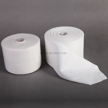 High quality viscose polyester nonwoven spunlace roll