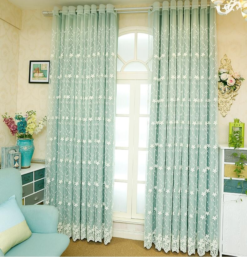 Jacquard Fabric Eyelet Style Double Layer Sheer Window Curtains Curtain Product On Alibaba