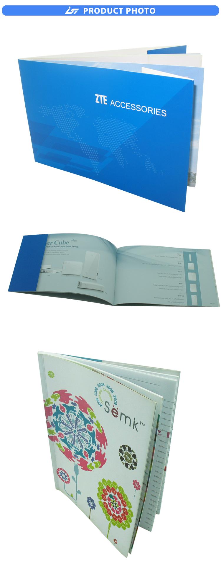 หรูหราราคาถูกกระดาษหนังสือออกแบบโบรชัวร์บริการ