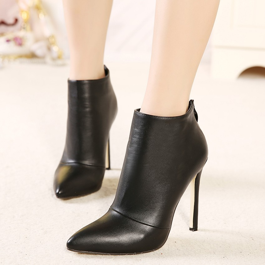 New Women Pumps High Heels Boots Shoes Woman Pointed Toe
