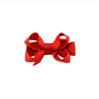 Baby girls mini ribbon bow hair clip baby barrettes wholesale