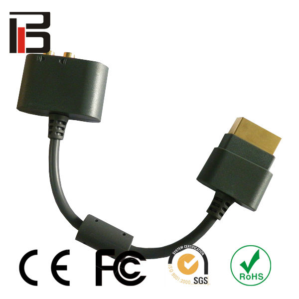 New optical RCA cable for xbox360 AV cable adapter for xbox360 acessories