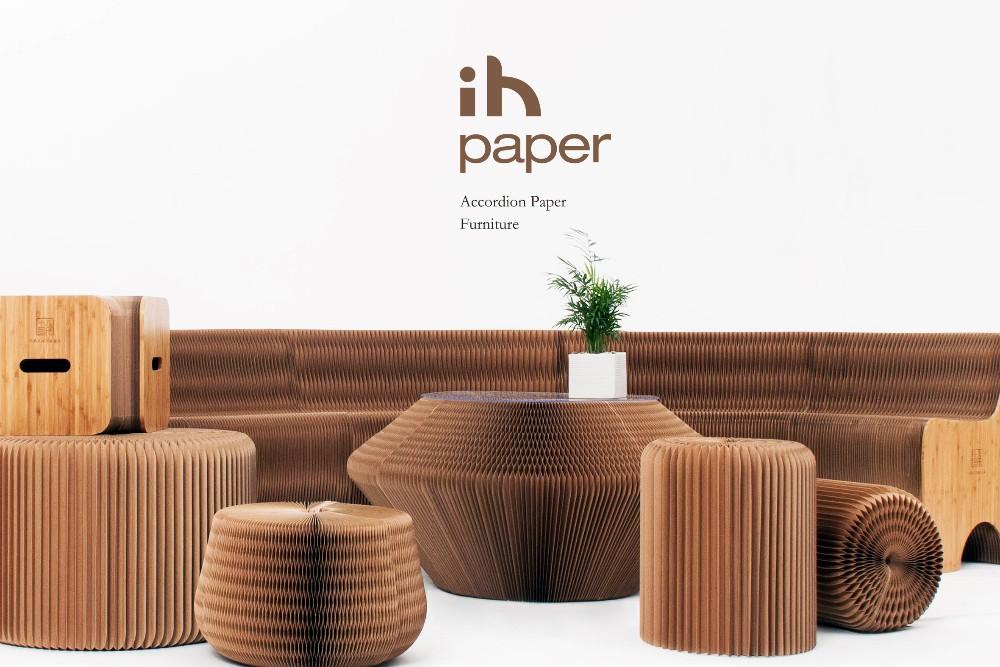 Modern Accordion Paper Home Furniture 12 Seating Sofa
