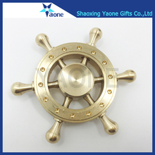 Pure Copper Hand Spinner Metal Fidget Spinner Pirate Rudder Toys For Adults Stress-Relief Spinner Anti Stress Toy