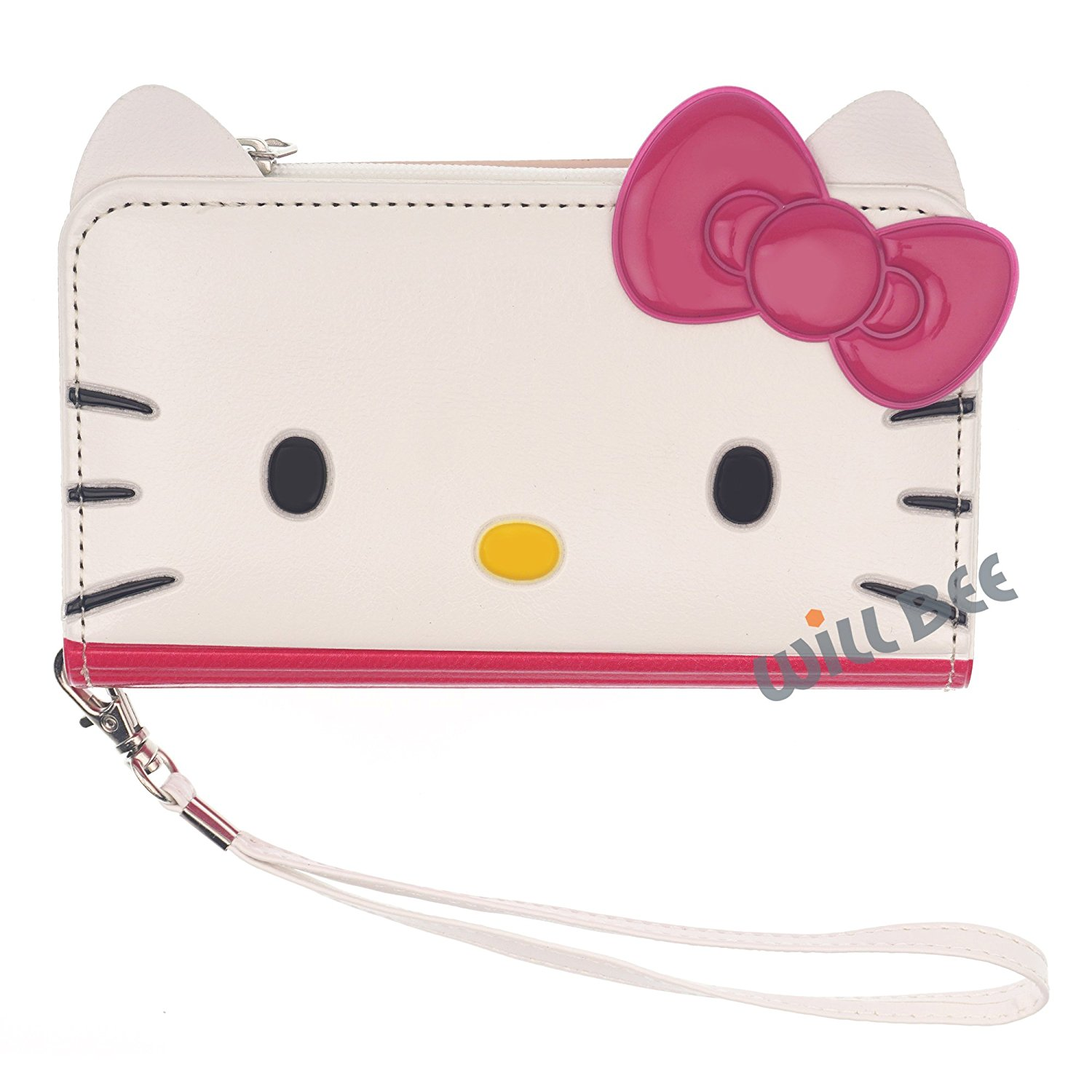 Get Quotations · LG G3 Case HELLO KITTY Cute Diary Three Sided Wallet Flip  Anti-Shock Synthetic Leather 5f9a2a70ca99d
