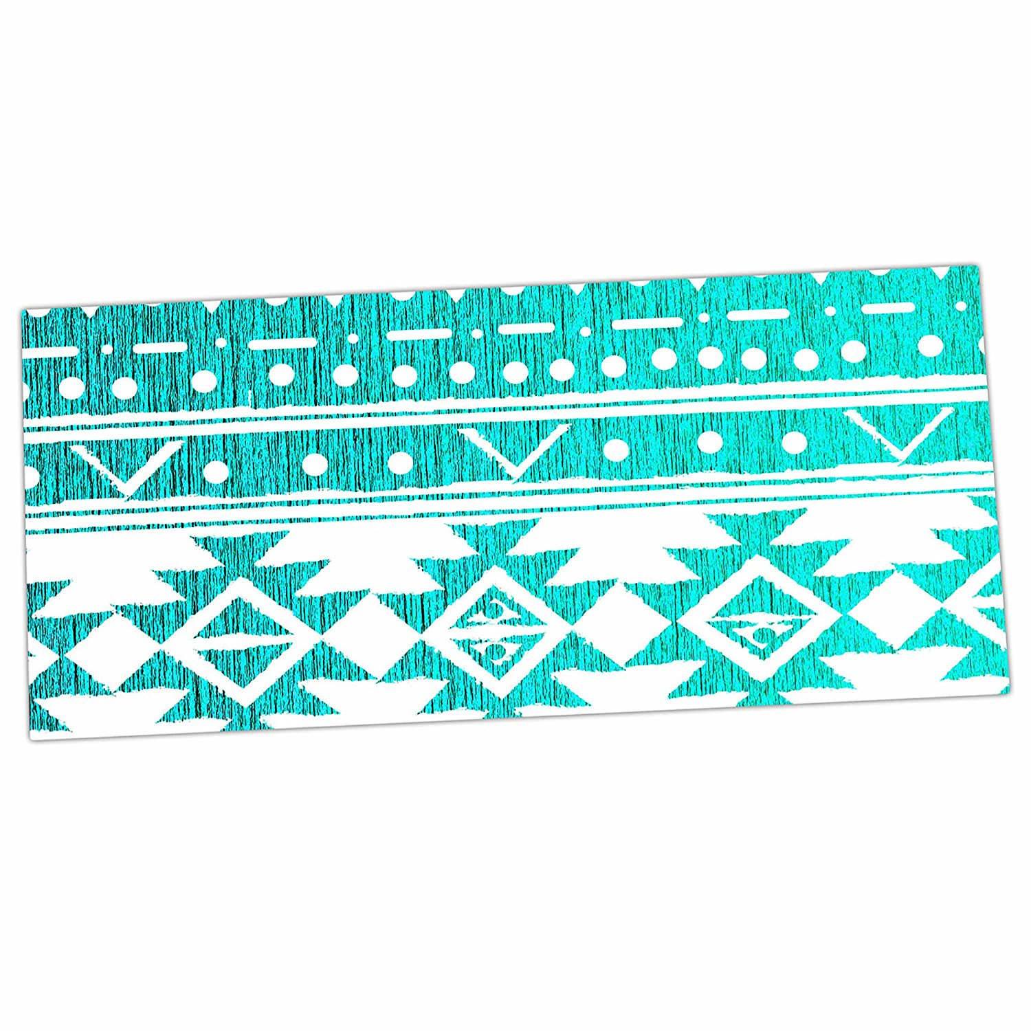 "KESS InHouse Office Desk Mat, Mousepad, 13"" x 22"", Nika Martinez ""Aquamarine Tribal"" Teal Blue (MM1103ADP01)"