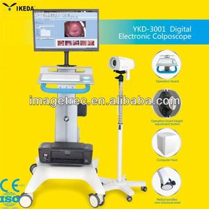 Trolley Gynecology Full HD Multifuction Colposcope Examination Equipment