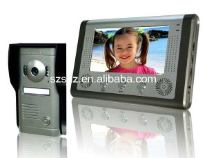 video door phone 7''colour wired voice intercom system