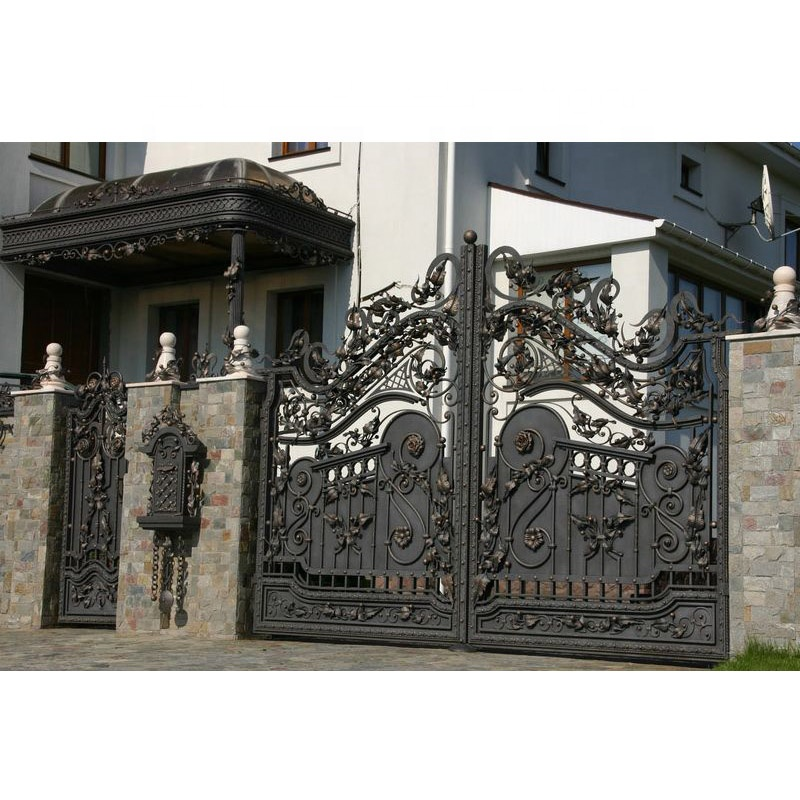 Iron Gate Design Catalogue/main Gate And Fence Wall Design - Buy Iron Gate  Design Catalogue,Main Gate And Fence Wall Design,Parapet Wall Design