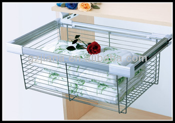 Pull Out Closet Sliding Wire Basket For Wardrobe Buy Closet Sliding