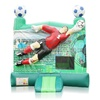 Popular inflatable green castle jumping bouncer house inflatable soccer bounce house