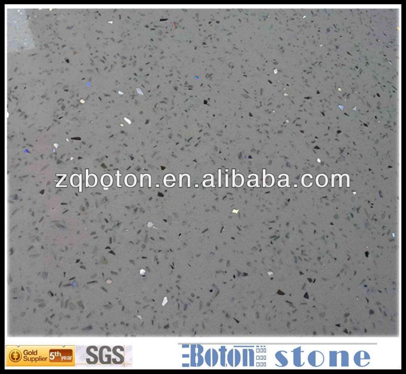 Sgs White Artificial Quartz Stellar Agglomerated Stone Engineered Quartzite Panel For Kitchten Countertop Flooring Wall Tile