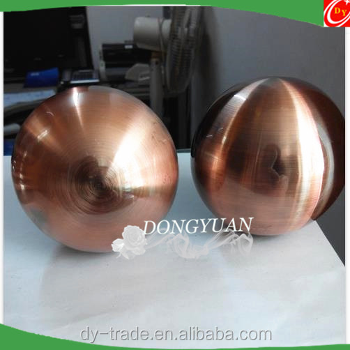copper color stainless steel decorative ball with hole