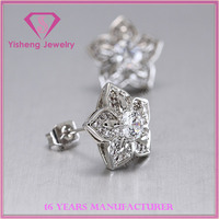 Sterling 925 silver cubic zirconia Earring jewelry less quantity and lower price