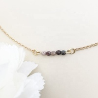 Natural Jasper Choker Tiny Beads Bar Beaded Necklace