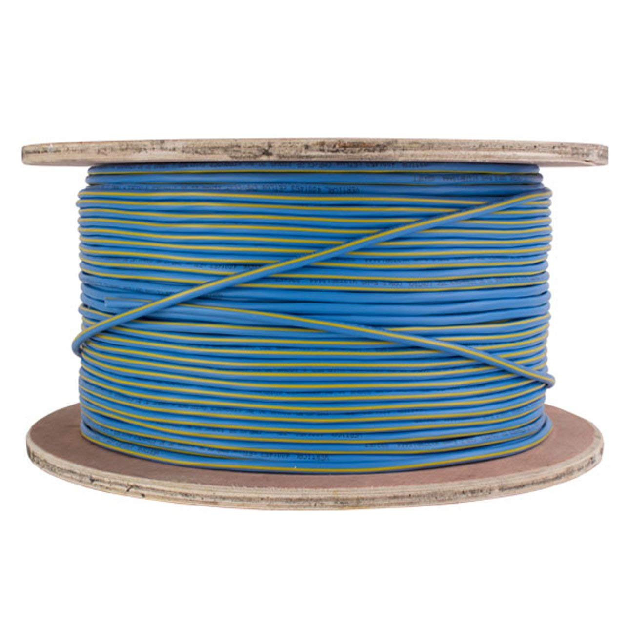 Control Cable Plenum: 22AWG/2 (Shielded) Data + 18AWG/2 Power, Stranded Bare Copper Conductors, Teal with Yellow Stripe, 1000ft
