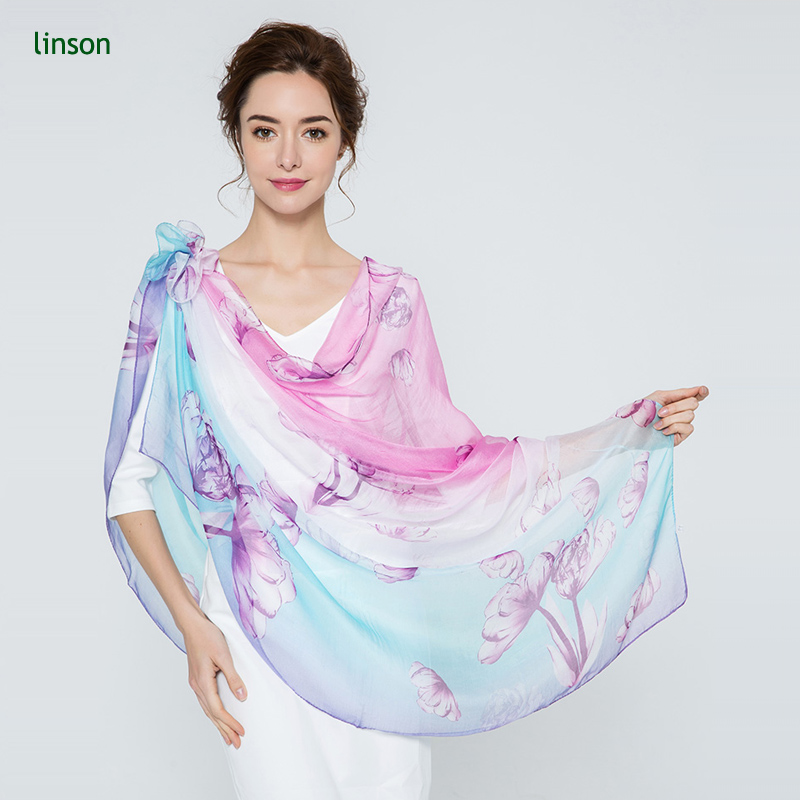 2017 Summer Dubai Dhaka Nepal And Dupatta Women Use Chiffon Printed Silk Bridal Shawl Scarf