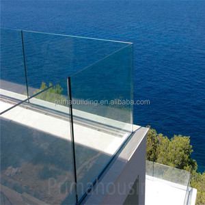 cable railing hardware u channel glass balustrade post for staircase