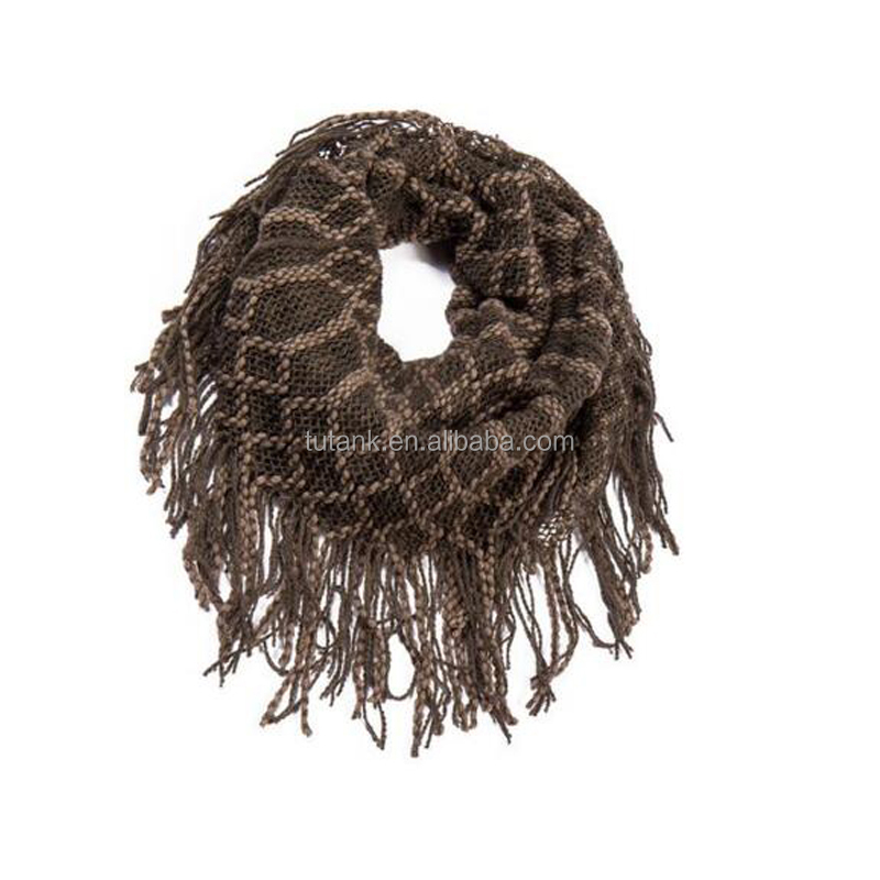 Women Warm Infinity One Circle Crochet Knit Loop Scarf Neckwarmer