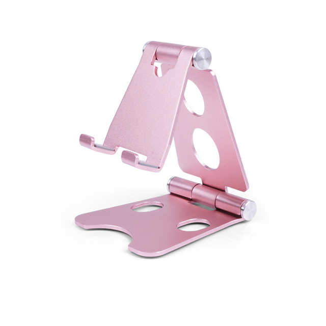New Design Universal Flexible Adjustable Foldable Portable Mini Biaxial Aluminium Lazy Mobile Phone Stand, Golden;red;white;black