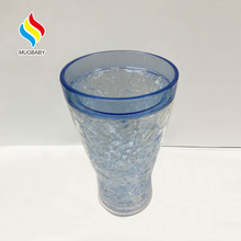 PS double wall ice beer mug with Ice Beads and Ice Gel