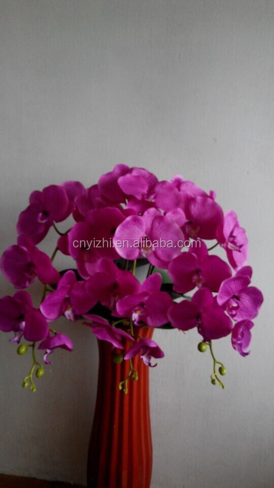 purple artificial Orchid flower orchid pots for wedding