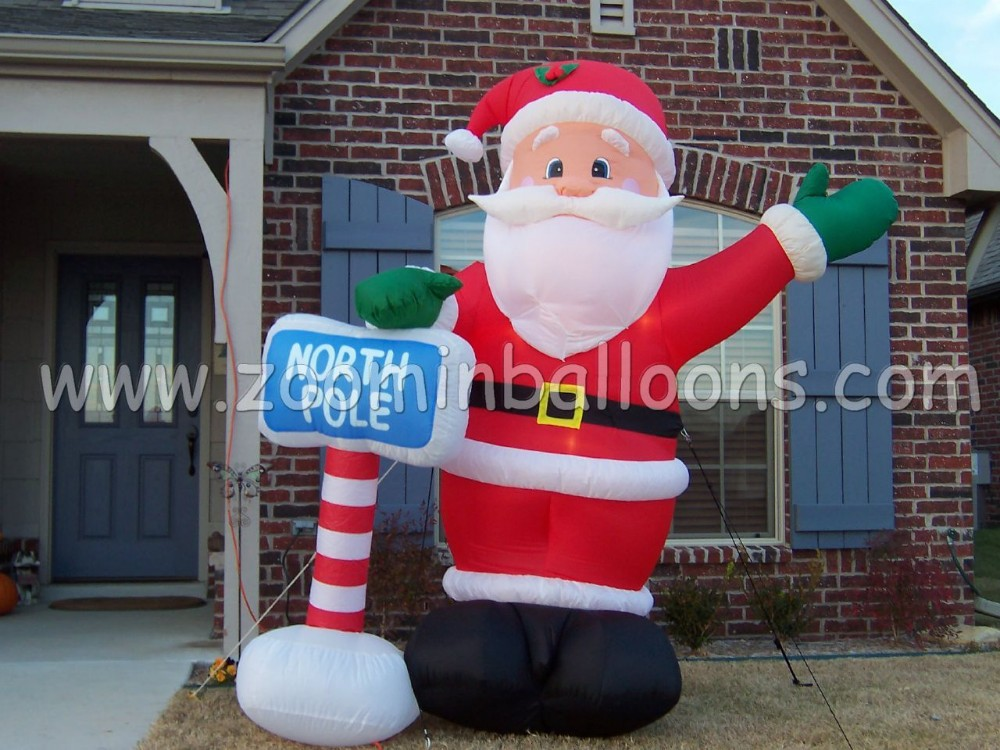 Top sale 4m inflatable santa claus balloon for decoration N2038