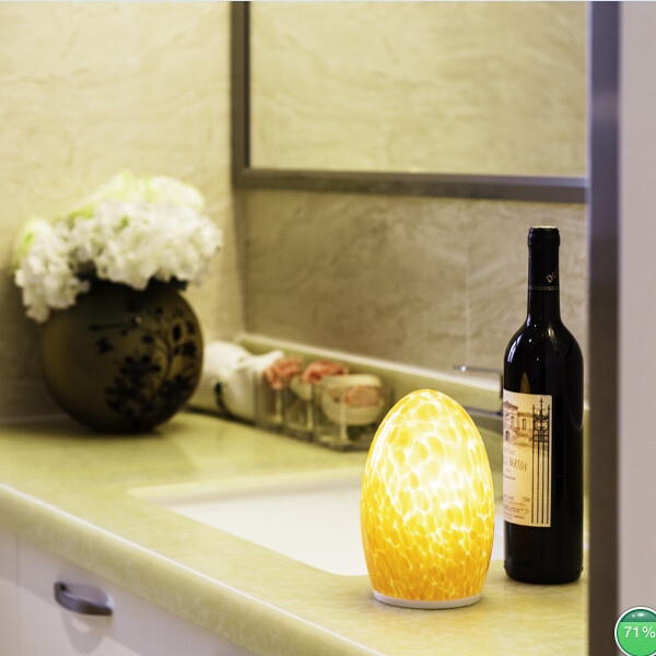 American style factory direct hotel led egg cordless usb candle warmer lamp