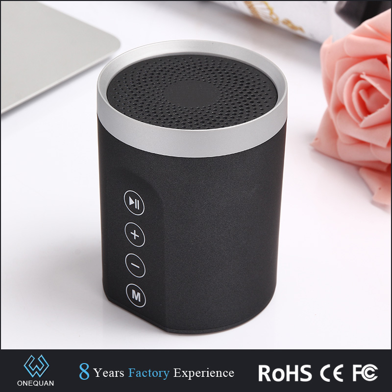 latest product for sell 2016 round 3D stereo sound 8W powerful bluetooth speaker