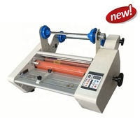 FM-360F Foil Fuser /Thermal Sleeking film Laminator with rewind