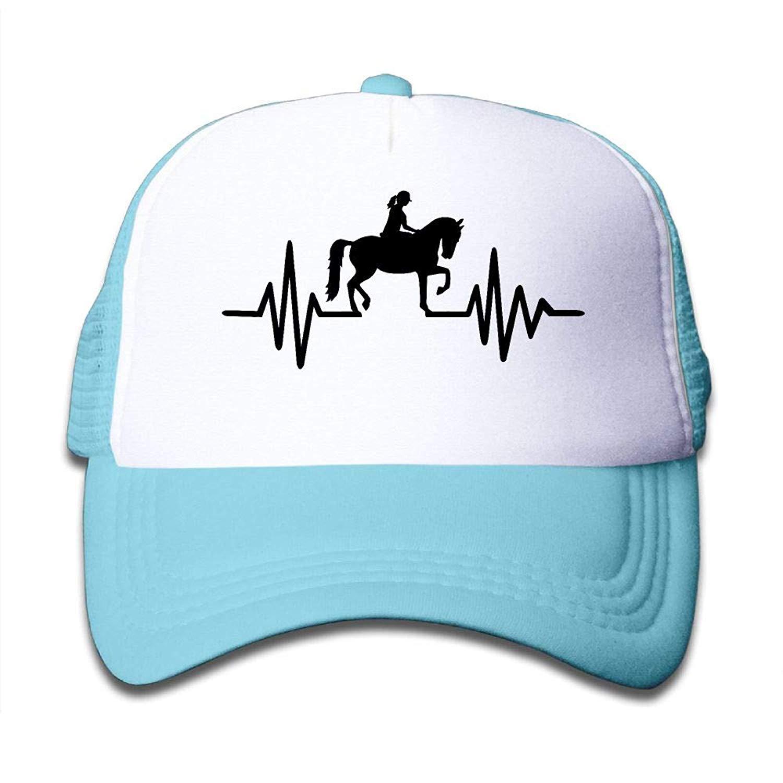 c2bbee4f74a02 Get Quotations · Riding Heartbeat Line German Kids Toddler Boys Girls  Adjustable Mesh Cap Hip Hop Caps Trucker Hat