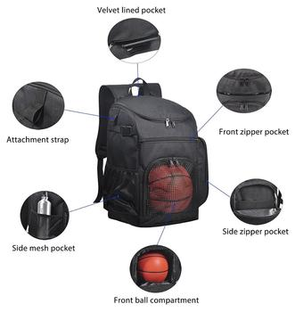 Basketball Backpack Large Sports Bag For Men Women With Laptop Compartment Best Soccer Volleyball Swim Gym Travel 40l