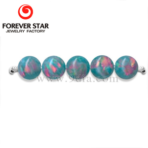 In Stock China Multi-teal Color Opal Stones Smooth Ball Synthetic Opal Beads For Jewelry