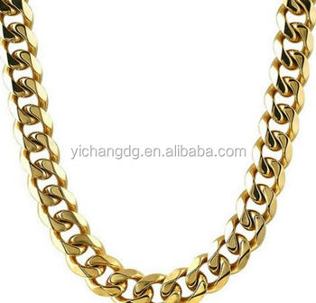 0afc6de8155 Stainless Steel Material Wholesale 24k Gold Filled Curb Necklace Chain -  Buy Jewelry Gold Filled Chain,Stainless Steel Necklace,316l Stainless Steel  ...