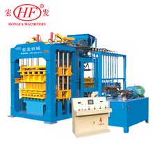 QT8-15B concrete block making machine by vibration and hydraulic forming