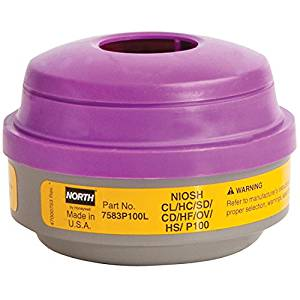 Cartridge for North Full-Face and Half-Mask Respirators, P100 filter