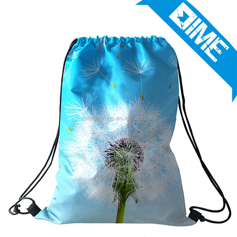 2017 Customized Cheap Sports Gym Polyester Drawstring Bag