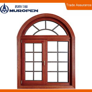 China aluminum pvc arch window with grills