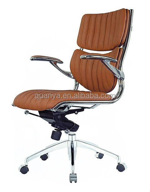 modern deluxe mid back high aluminum legs executive office chairs