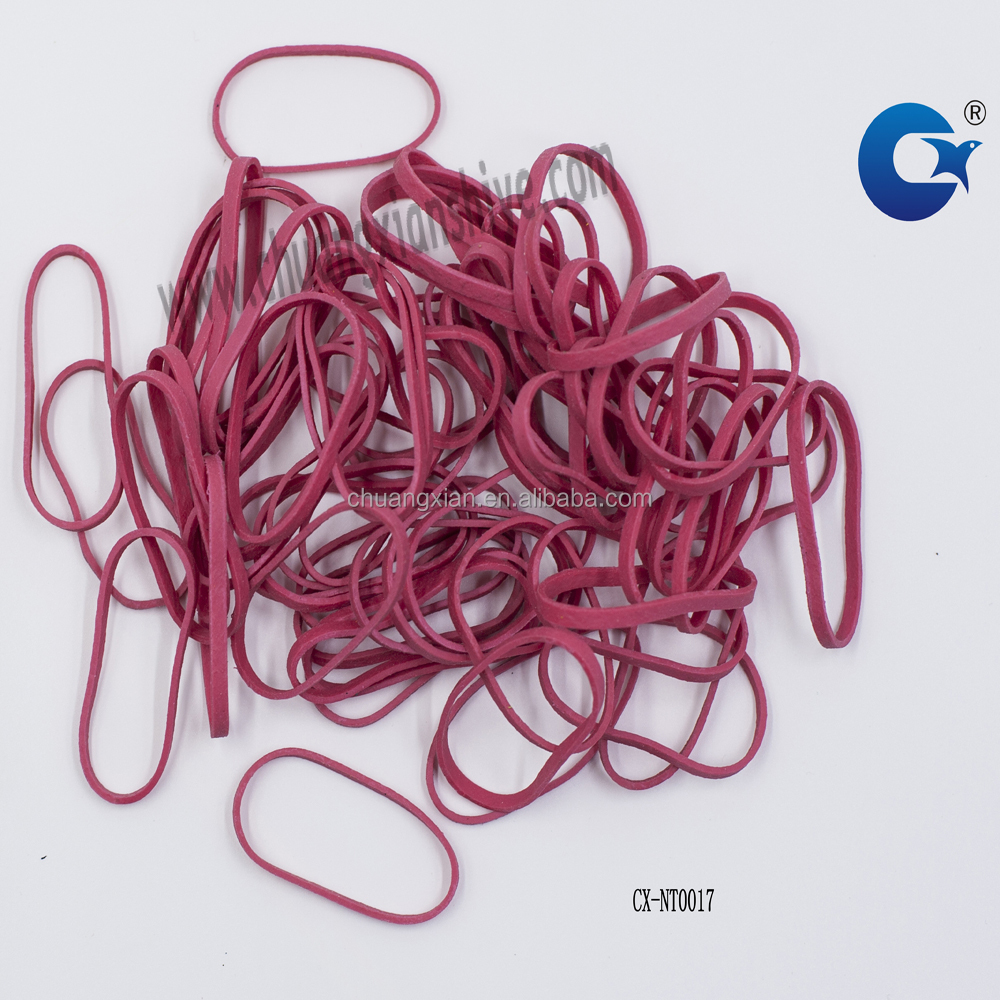 Red color durable rubber band for size 19