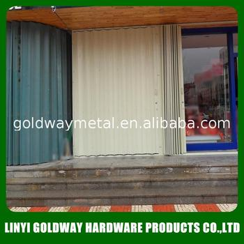 Commercial Exterior Metal Steel Accordion Folding Door For Shops