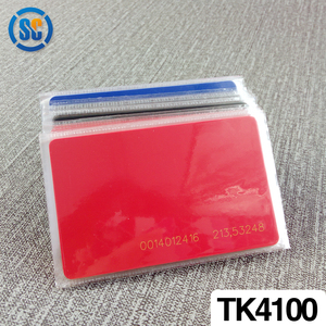 TK4100 id chip 85.5x54x0.86mm nfc blank pvc access card