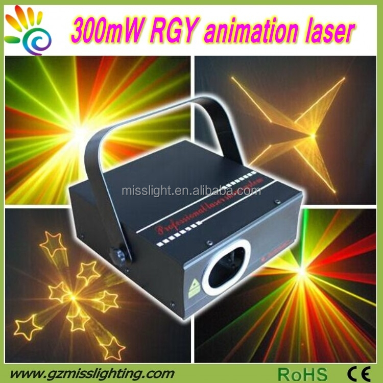 Full color 300mW RGY animation Disco Stage laser light