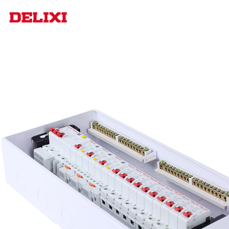 delixi pz50-20 wall mounted newest 12v home network dc single phase switch board equipment power distribution box
